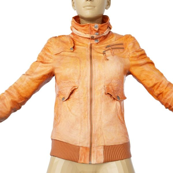 Vintage Jacket Light Brown Leather
