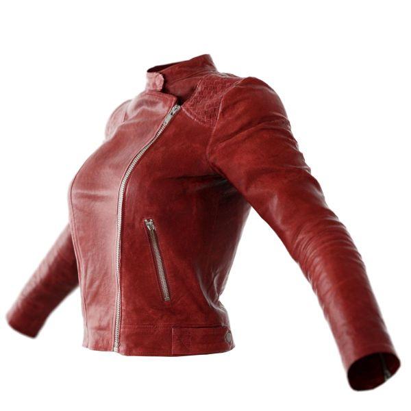 Vintage Jacket Red Matte Leather