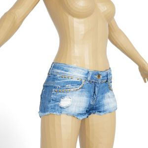 Vintage Shorts Jeans Studs