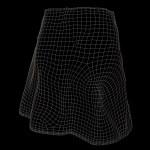 Vintage Skirt Black Denim