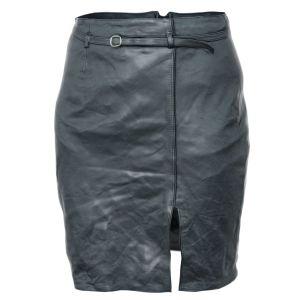 Vintage Skirt Black Leather
