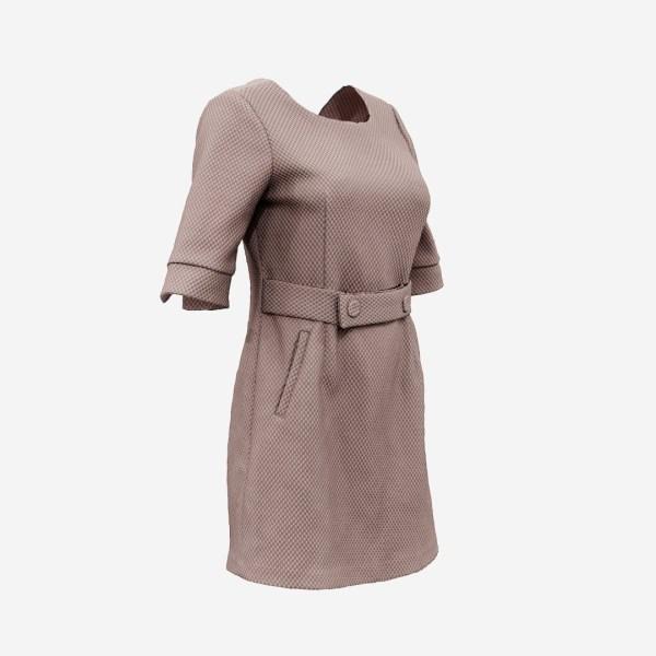 Brown Belt Dress