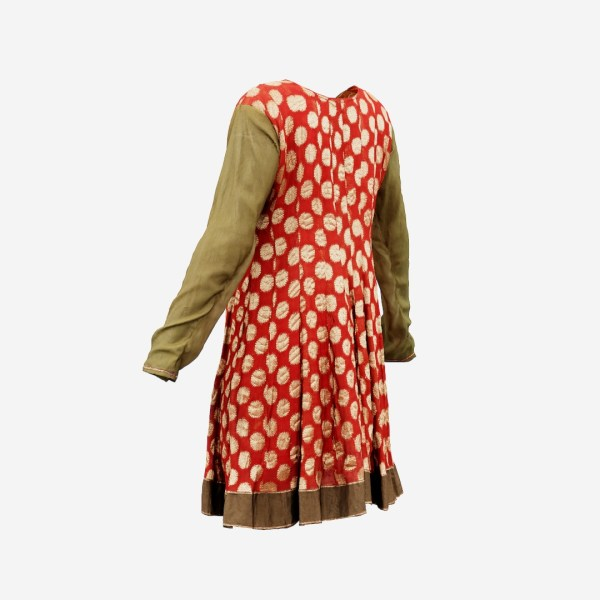 Red Gold Green Classical Dress