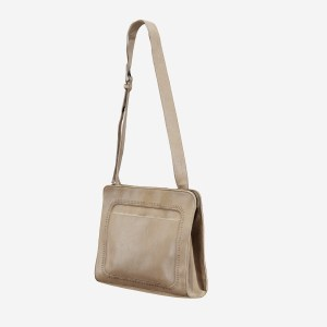 Beige Leather Shoulderbag