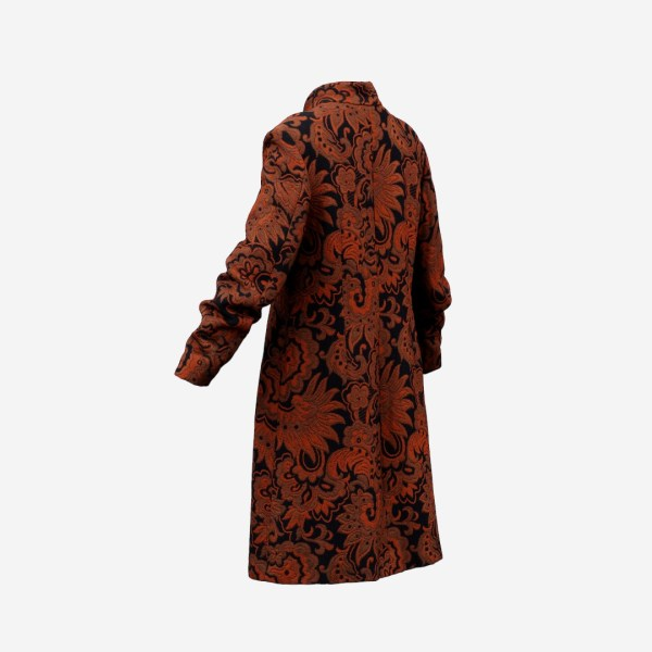 Tall Flower Decorated Coat