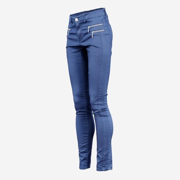 Blue Zipper Pants Trousers