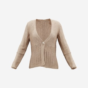 Knit Wool Cardigan Beige