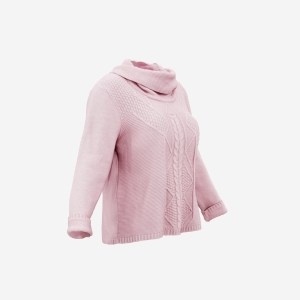 Pink Knit Wool Pull