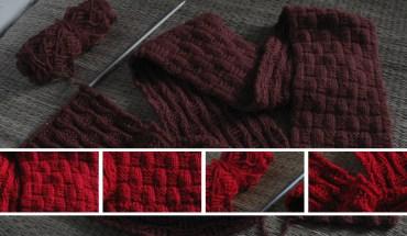 Sau khi đan bạn sẽ có 1 chiếc khăn len như vậy