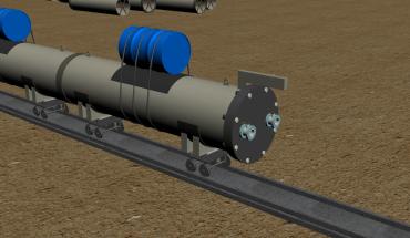 Hoạt cảnh 3D mô phỏng quy trình hạ ống của GCE.COM.VN