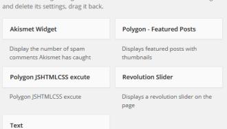 Xoá danh sách các widgets mặc định trong WordPress