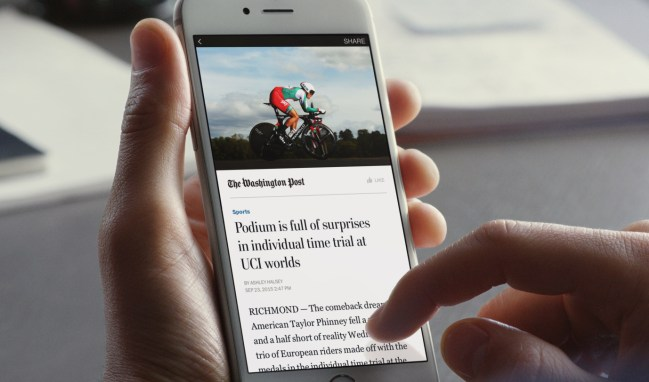 Instant Articles poster frame (Image: TechCrunch.com)