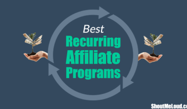 Recurring Affiliate Programs (Image: ShoutMeLoud.com)