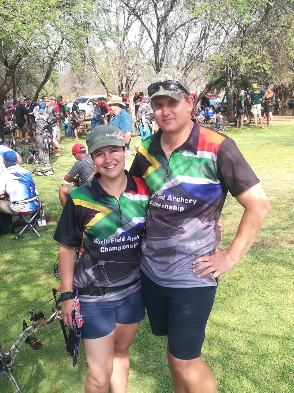 Polygraph examiners representing South Africa at the World Field Archery Championships 2018