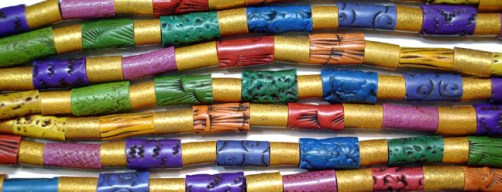 Lindly Haunani, Rainbow Tube Beads, 1993