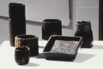 Nan Roche's 6 Untitled Vessels as displayed in the MIPCES Exhibition