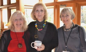 Nan Roche, Diane Levesque and  Rachel Carren conversing at Wingspread