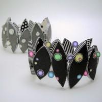 Judy Belcher, Dot Bracelets, 2009, polymer