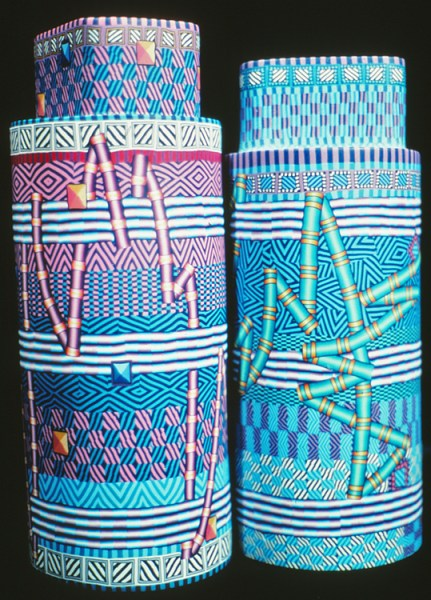 City Zen Cane, (aka Ford/Forlano) Two Tube Cane Vessels, circa 1991
