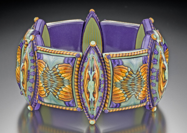 Sarah Shriver, Aqua, Gold and Purple Bracelet, 2009