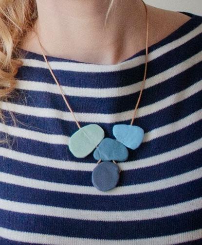 Tutorial: Blue Statement Necklace