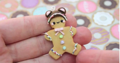 Tutorial: Cute Gingerbread Ornament