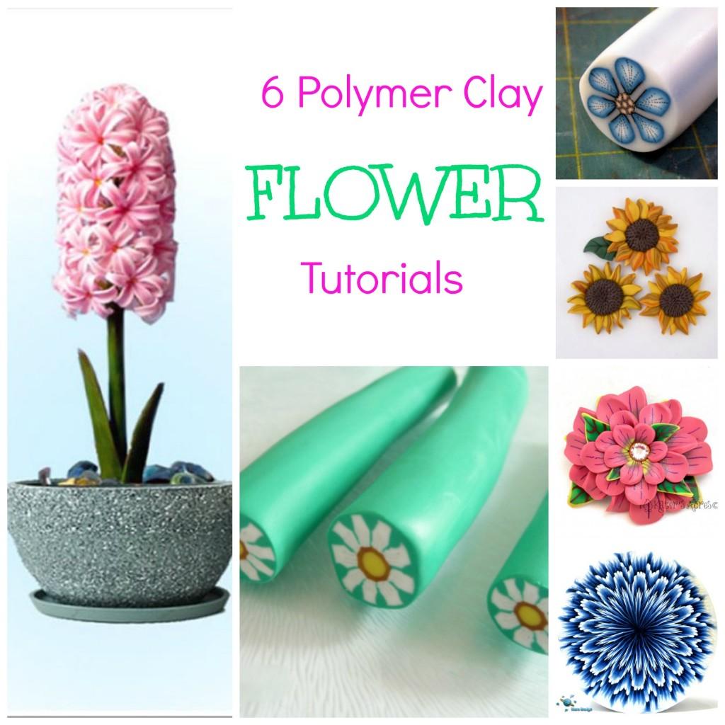 Polymer clay flower tutorials polymer clay