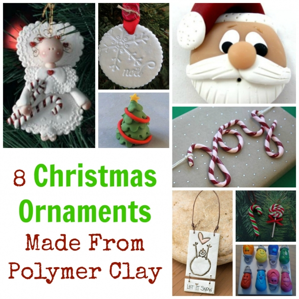 8 Christmas Ornaments Made From Polymer Clay – Polymer Clay