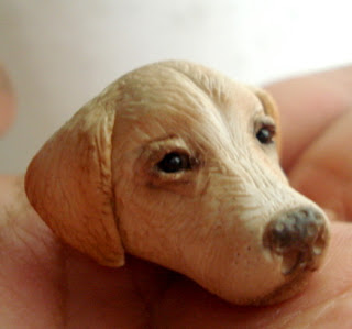 yellow lab i admit i was looking for some tutorials on how to make dogs canes sculpture something in polymer clay when i stumbled across this