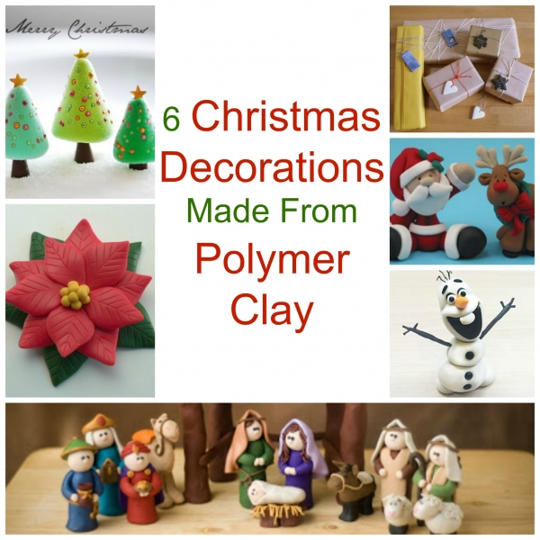 Christmas Decorations Made From Clay : Christmas decorations made from polymer clay