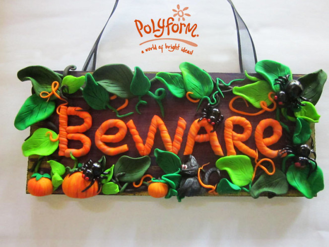 Halloween Signs from Clay – Polymer Clay