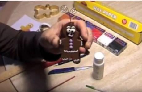 Making Gingerbread Cookie Ornaments