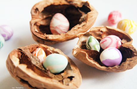Marbled Mini Easter Eggs