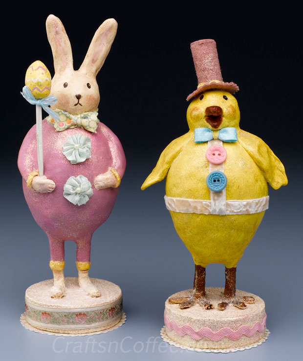 Paper Clay Chick and Bunny