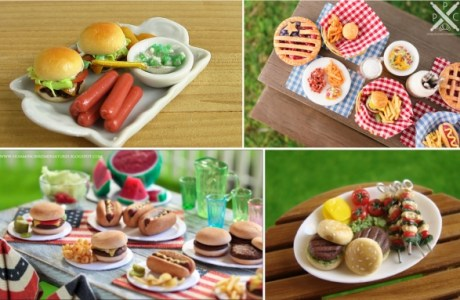 Miniature Polymer Clay BBQ