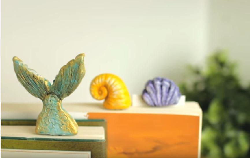 Polymer Clay Sea Theme Bookmarks