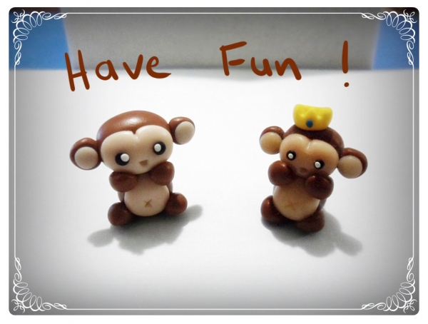 Cute Clay Monkeys