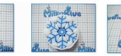 Snowflake Polymer Clay Cane