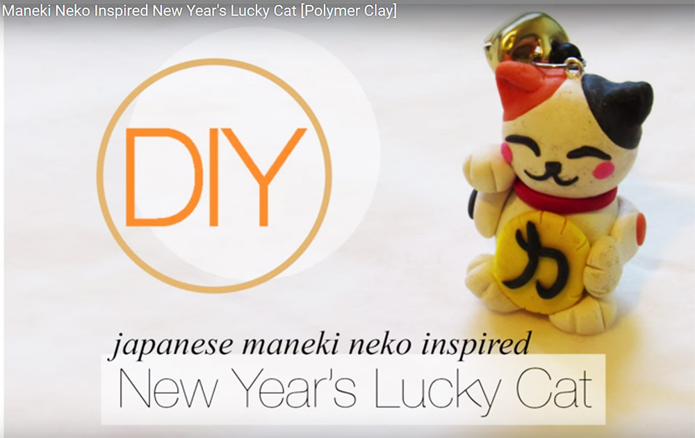 Polymer Clay Maneki Neko for the New Year