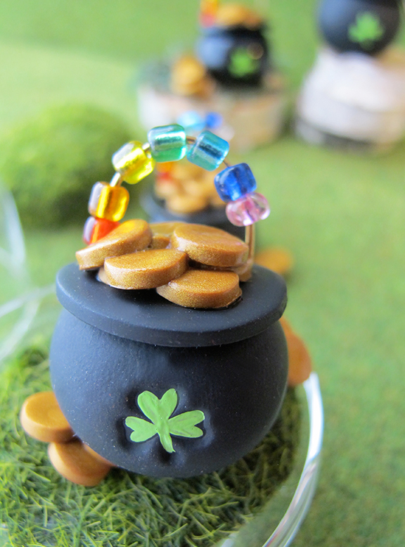 Polymer Clay Pot of Gold
