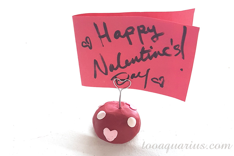A Polymer Clay Valentine Holder