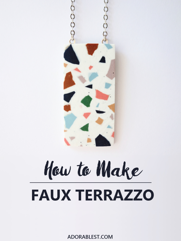 Faux Terrazzo with Polymer Clay