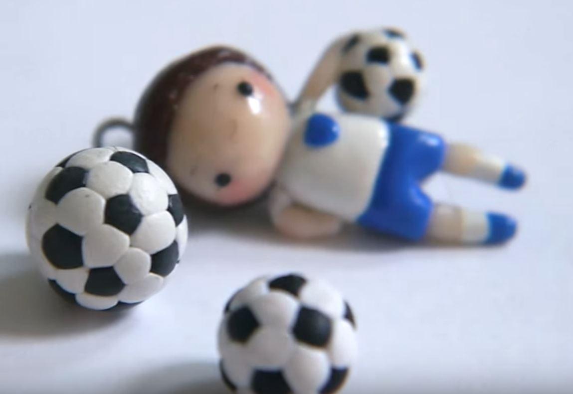 Polymer Clay Soccer Balls