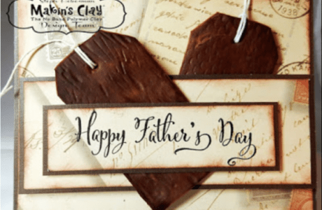 Father's Day Card with Clay Embellishments
