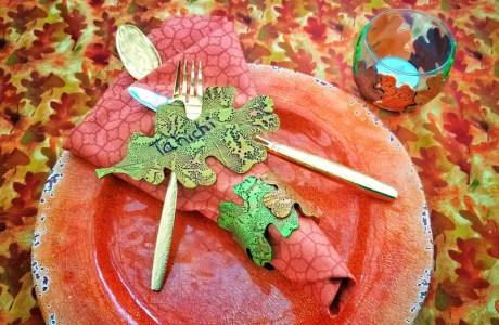 Polymer Clay Leaf Table Settings