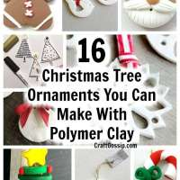 16 Christmas Tree Ornaments You Can Make With Polymer Clay