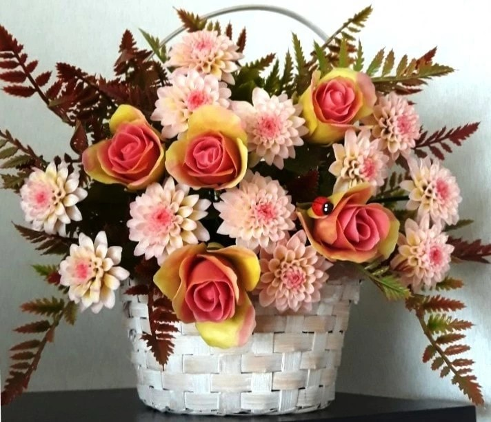 polymer clay flowers (Modena Clay)