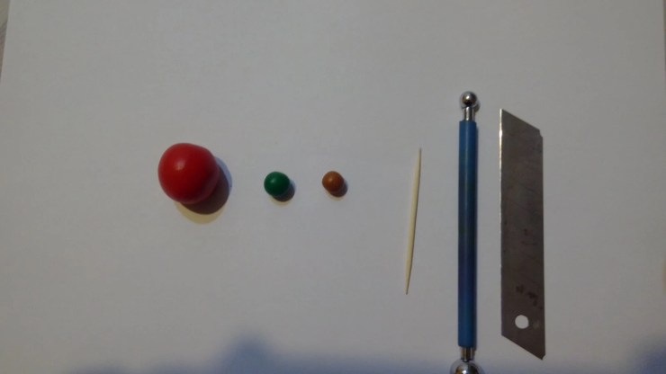 1 Polymer clay tomato. Photo tutorial on polymer clay food