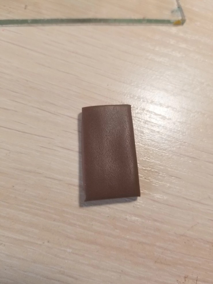 11 chocolate bar of polymer clay. Photo Tutorial