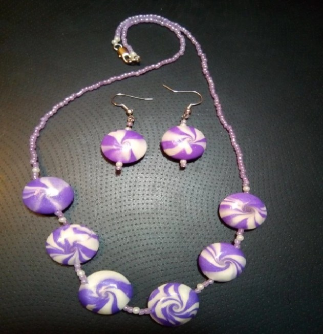 """polymer clay jewelry Technique """"Lentil"""""""